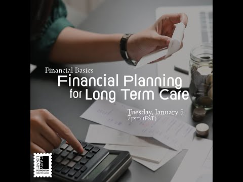 Financial Basics: Financial Planning For Long Term Care @ Cary Library (Jan 5, 202)