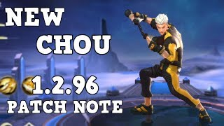 NEW CHOU FOR 1 2 96 PATCH NOTE