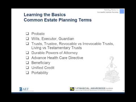 Building Blocks to Successful Estate Planning