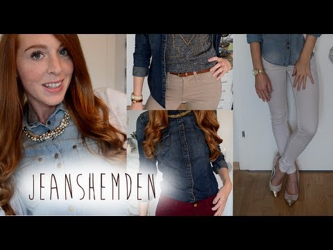 jeanshemd kombinieren how to style jean jacket youtube. Black Bedroom Furniture Sets. Home Design Ideas