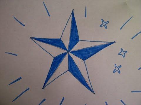 Как нарисовать пятиконечную звезду. Уроки рисования для начинающих и детей.