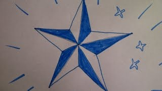 Как нарисовать  пятиконечную звезду. Уроки рисования для начинающих и детей.(Здравствуйте! Предлагаю вашему вниманию видеоролик, где я показываю, как очень просто нарисовать пятиконеч..., 2015-07-17T20:17:52.000Z)