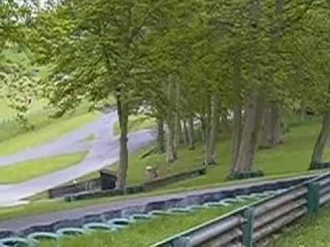 Bristol 400 Cabriolet on the track at Prescott Hillclimb