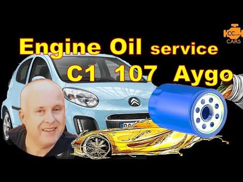 citroen c1 peugeot 107 toyota aygo 05-14 engine oil change how to