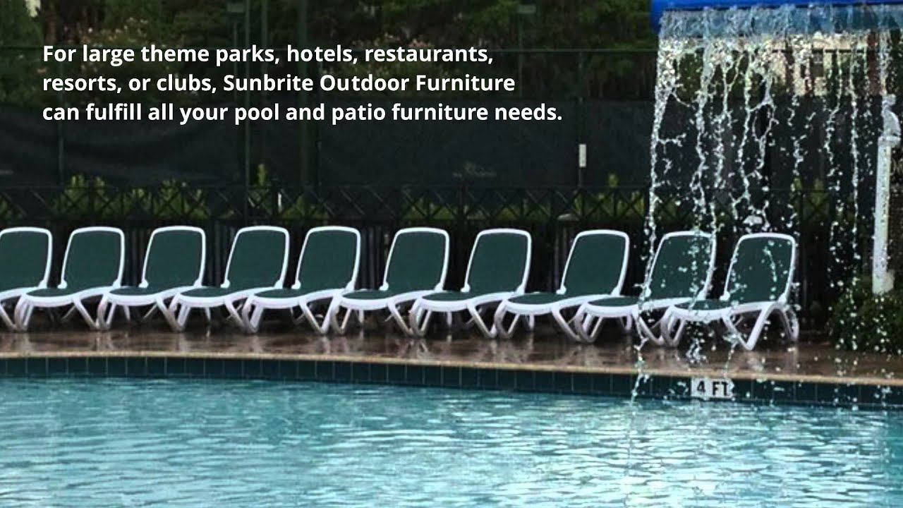 Hotel Pool & Patio Furniture Sunbrite Outdoor Furniture