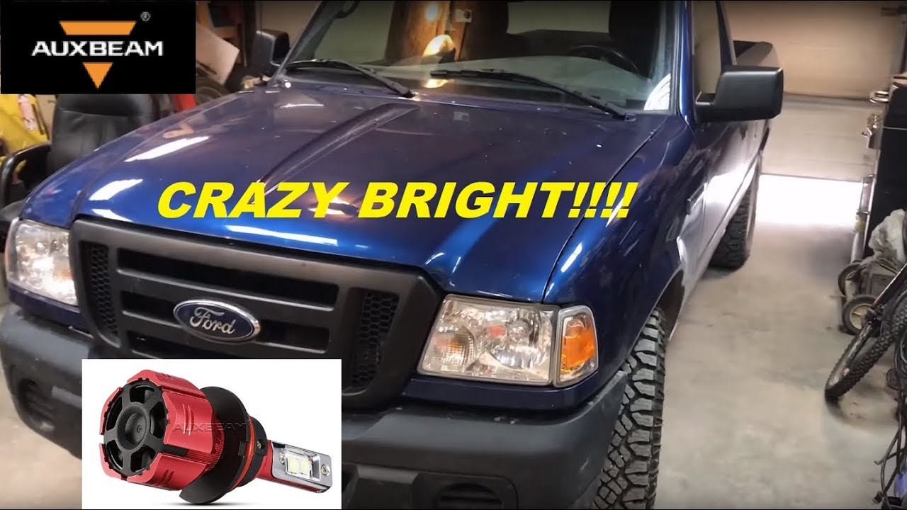 Ford Ranger Led Headlights Upgrade 9007 Auxbeam 7000lm