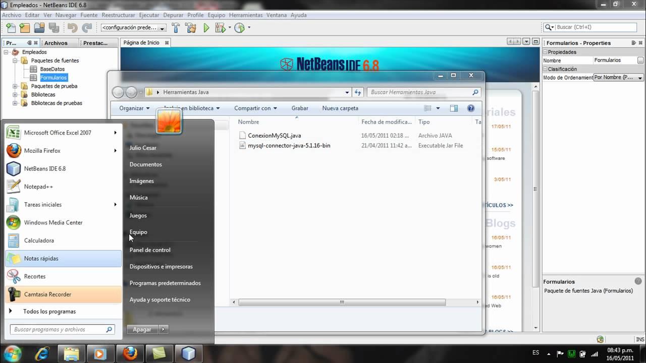 conecion mysql (phpmyadmin) con Netbeans