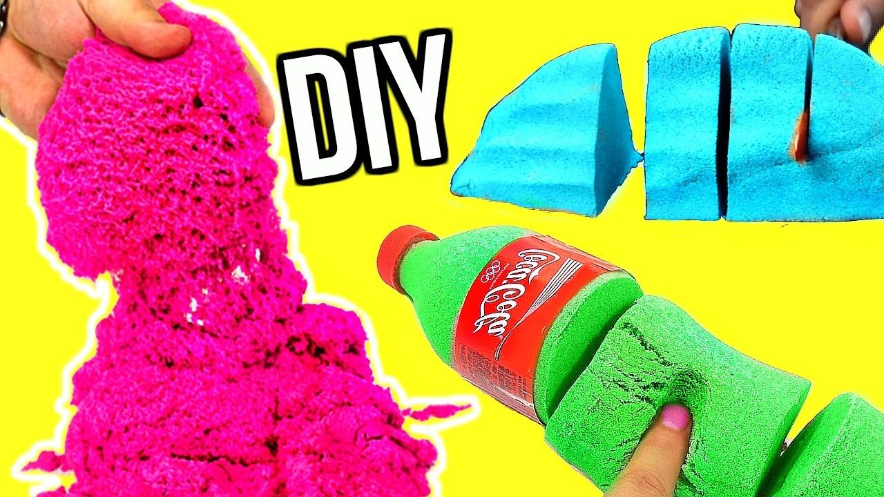diy kinetic sand crazy sand youtube. Black Bedroom Furniture Sets. Home Design Ideas