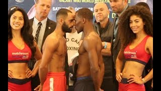 *INTENSE* COME ON BAZZA! - KID GALAHAD v TOKA KAHN CLARY - OFFICIAL WEIGH IN VIDEO (FROM BOSTON)