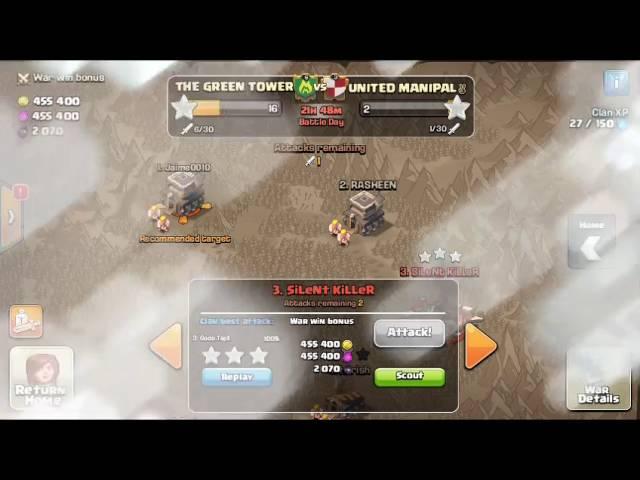 COC th 9 vs th 9 war