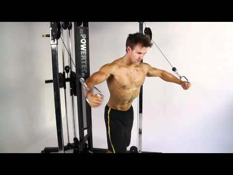 Bodybuilding - Rob Riches Chest Workout On Powertec Functional Trainer