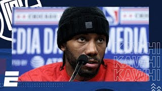 Kawhi Leonard 2020 NBA All-Star Media Day Interview | NBA on ESPN