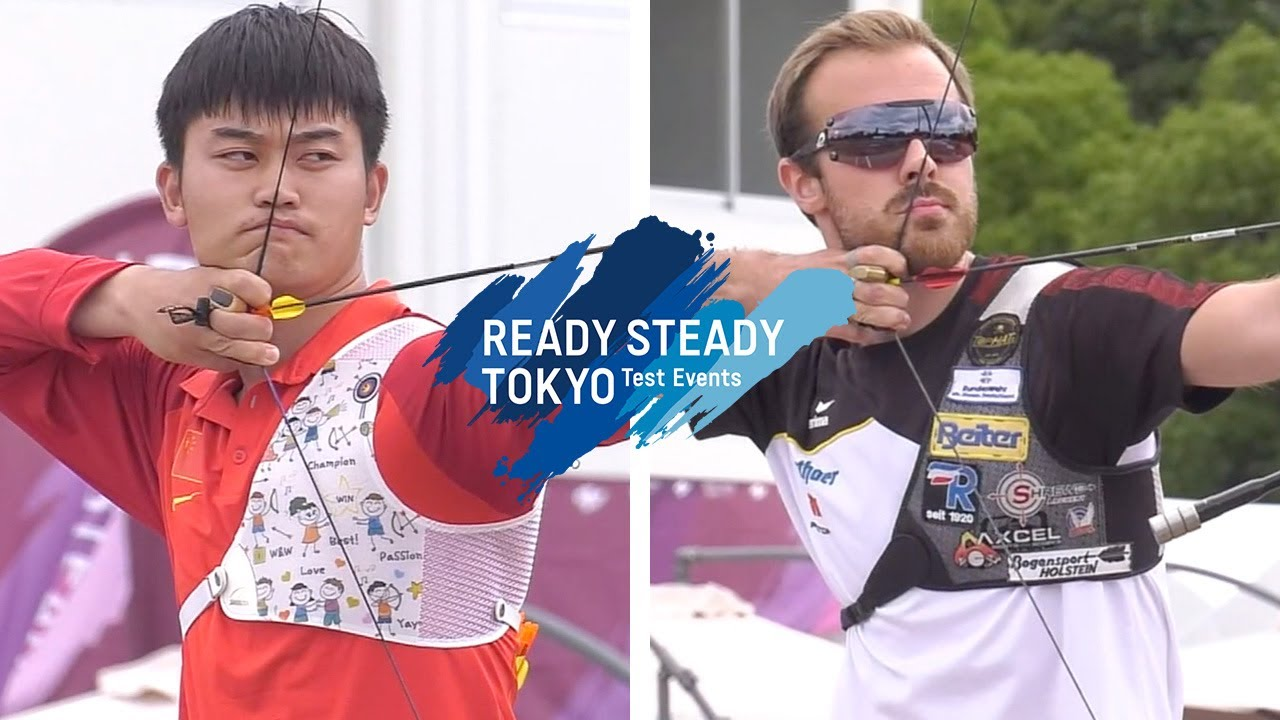 Traditional Archery Events 2020.Ding Yiliang V Florian Kahllund Recurve Men 1st Round Tokyo 2020 Olympic Test