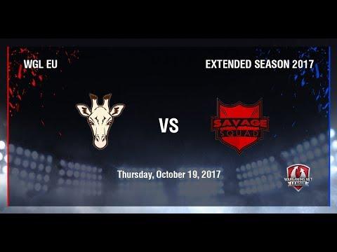 World of Tanks - Oops-TTG vs Savage Squad - WGLEU Extended Season 2017 Week 6 Day 1
