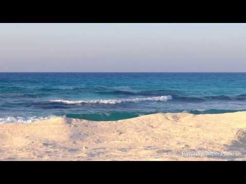 Those Relaxing Sounds of Waves Egypt Marsa Matrouh, Sea Sounds, 1080p HD Live, Video Wallpapers