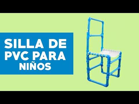 Cmo hacer una silla de PVC para nios  YouTube