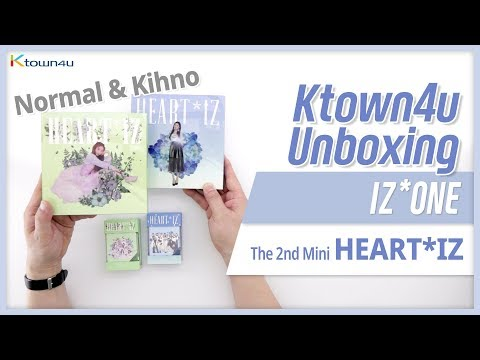"Unboxing IZ*ONE ""HEART*IZ"", The 2nd Mini Album, アイズウォン 아이즈원 언박싱 Kpop Ktown4u"