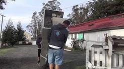 Santa Rosa Movers moves a Commercial Refrigerator