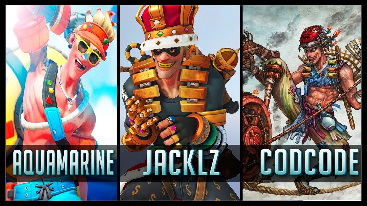 Download AQUAMARINE vs JACKLZ vs CODCODE - Gods of Junkrat 😱 | Overwatch Moments