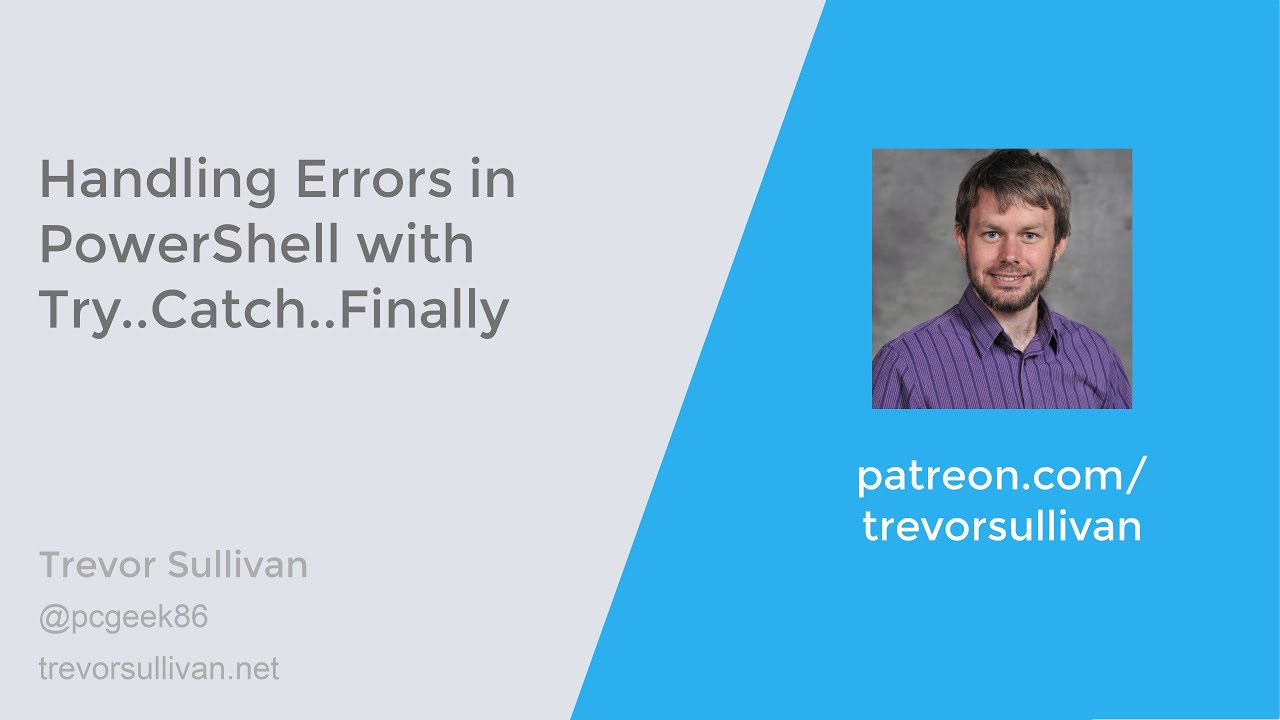 Download Handling Errors in PowerShell with Try..Catch..Finally