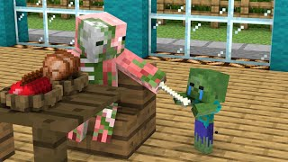 Monster School : Poor Baby Zombie and Dog 3 - Sad Story - Minecraft Animation
