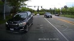 Close Call with a BMW Courtesy Car