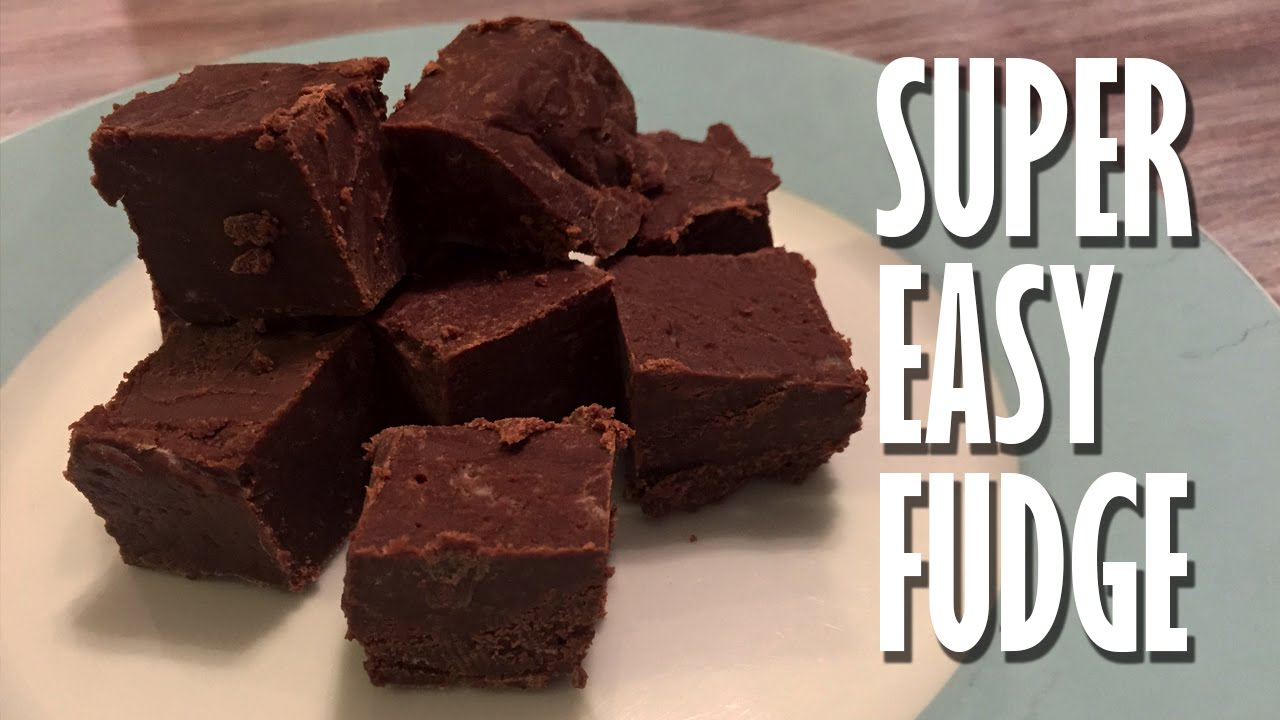 Fudge Recipe With Sweetened Condensed Milk The Microwave So Easy And Fast Youtube