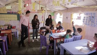 David Miliband Visits Syrian Children Helped In Lebanon