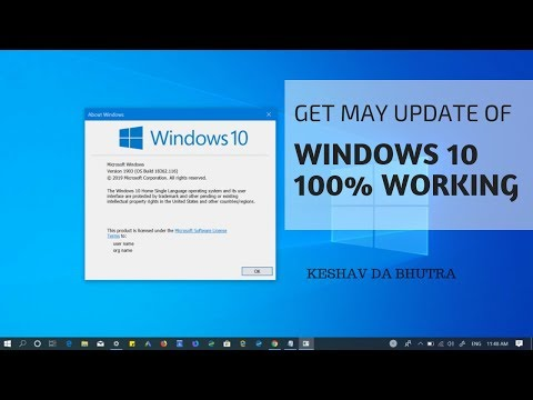 Hindi   How To Update Windows 10 May 2019 Latest Version   100 % Working  