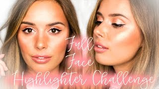 FULL FACE USING ONLY HIGHLIGHTERS CHALLENGE | WEARABLE TUTORIAL | Hello October