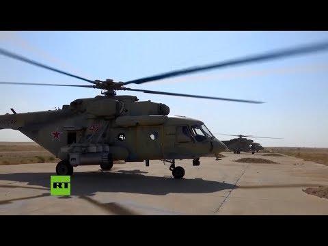 Helicópteros rusos aterrizan en una base estadounidense en Siria