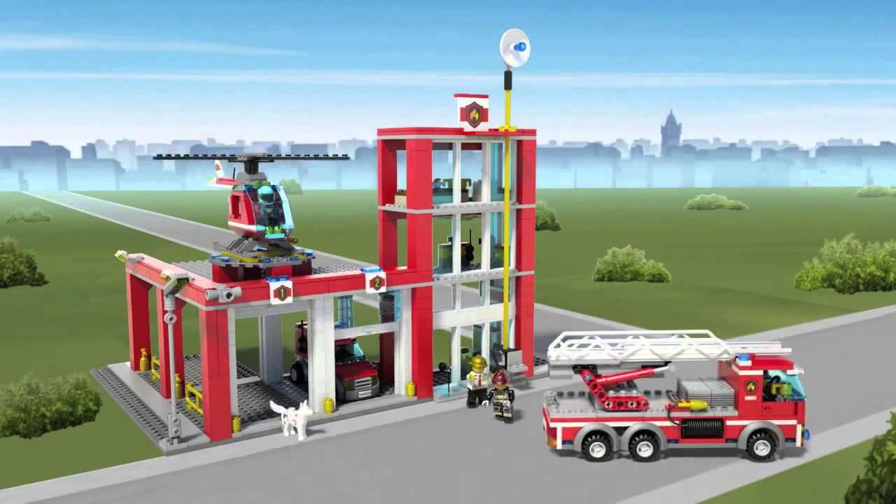 Lego City Remiza Strażacka Lego 60004 Youtube