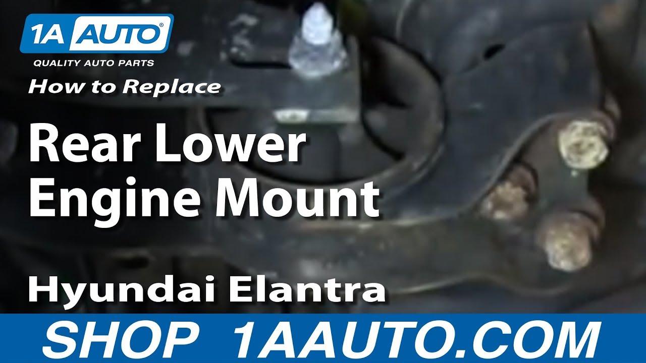 medium resolution of how to replace engine mount 01 06 hyundai elantra