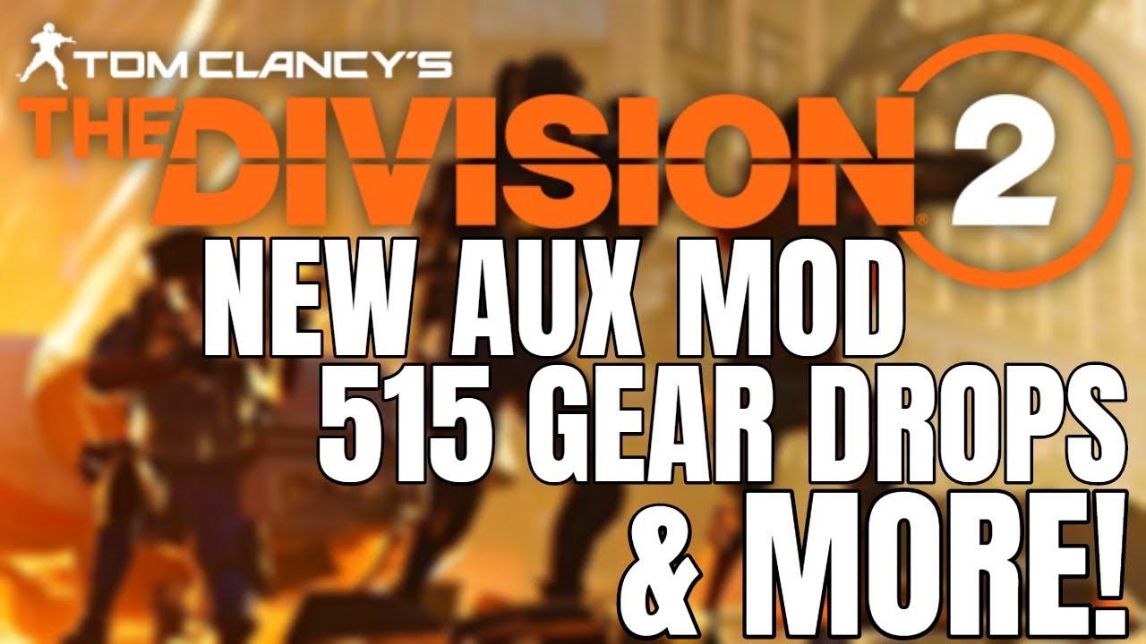 The Division 2 NEWS! 515 GEAR ADDRESSED, NEW BLUEPRINT VENDOR & MORE!