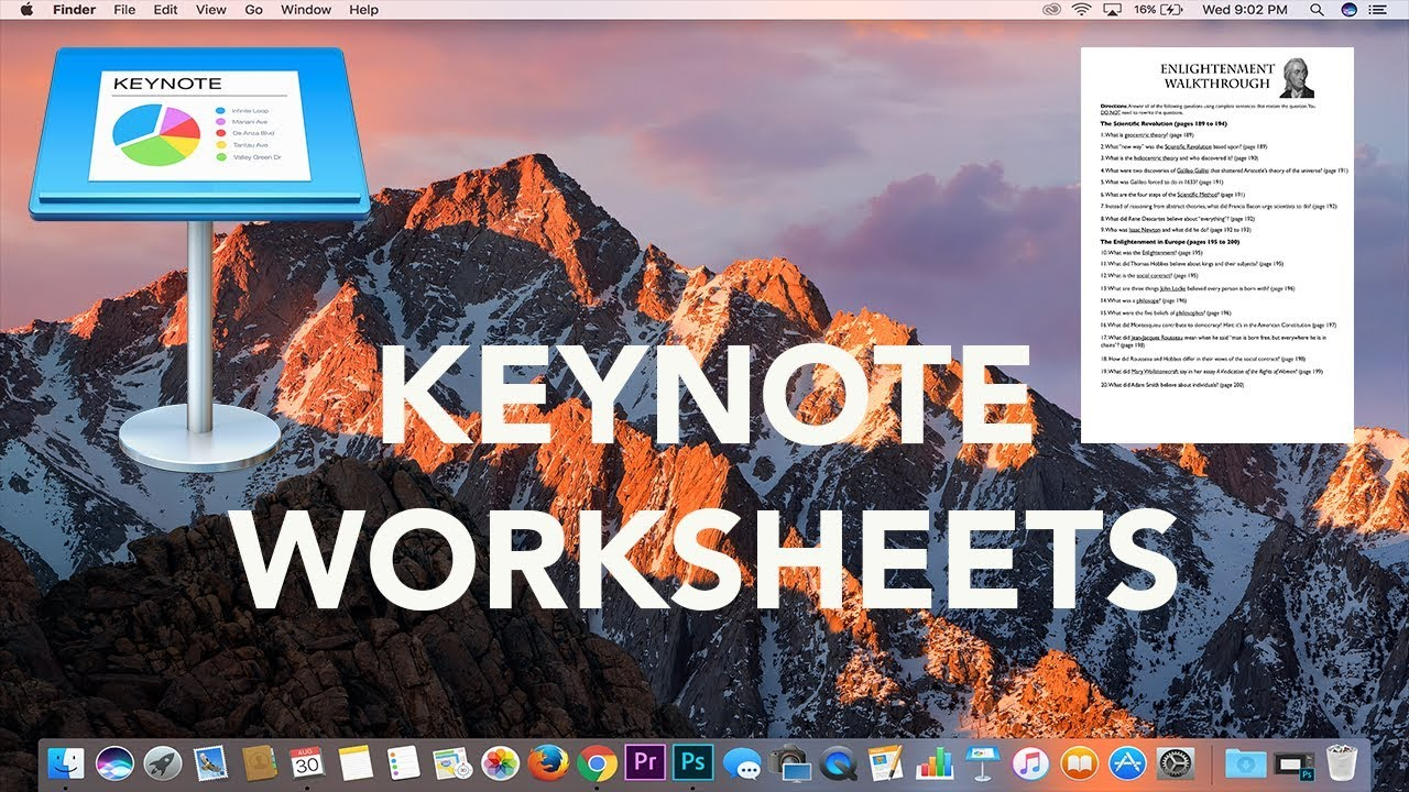 Apple Keynote Tutorial How To Make Worksheets For Teachers Youtube