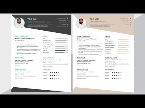 Resume Writing In Word Video Tutorial || Resume Writing Tips And Templates Free