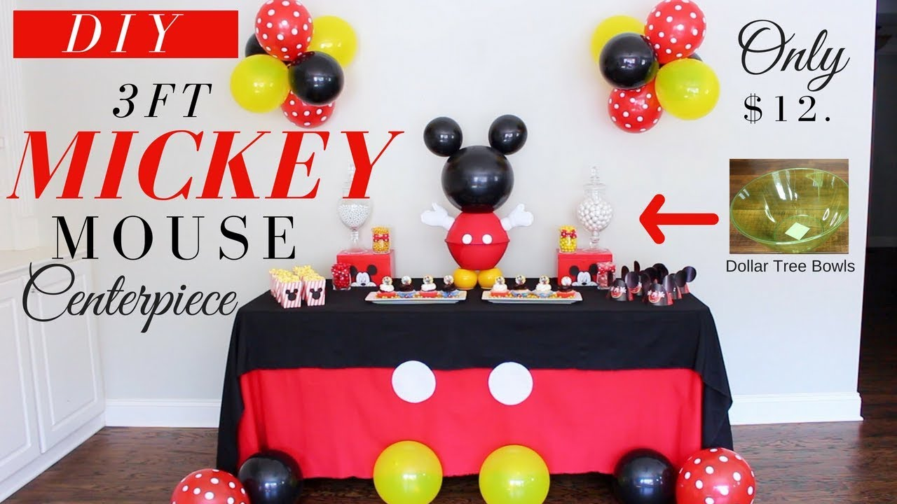 DIY 3ft Mickey Mouse Centerpiece