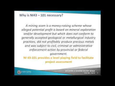 what is NI43101 and why it is necessary