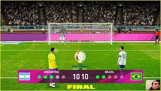 PES 2020 | Argentina vs Brazil Copa America Final | Penalty Shootout