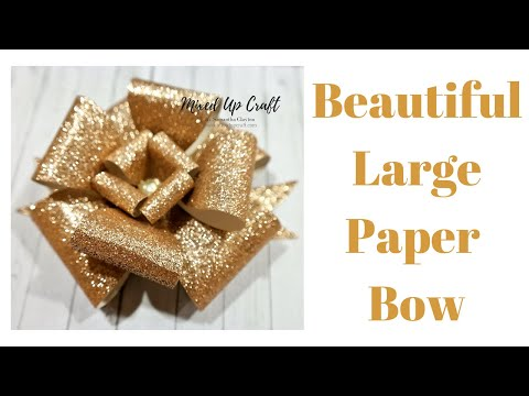 The Ultimate Paper Bow | Large Holiday Bow