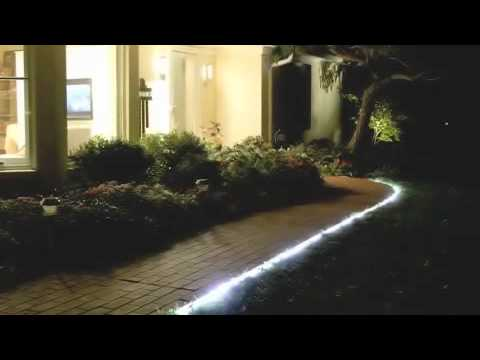 Linkable Indoor/Outdoor Color-Changing u0026 White LED 9 ft Rope Lights - YouTube : indoor rope lighting - www.canuckmediamonitor.org