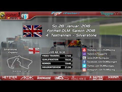 [Liveübertragung] Formel-DLM 2018 | 4. Testrennen - Silverstone