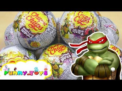 ЧЕРЕПАШКИ НИНДЗЯ Чупа Чупс Игрушки | Обзор КИНДЕР TMNT | Teenage Mutant Ninja Tutles surprise eggs