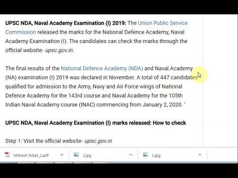 UPSC releases marks for NDA, Naval Academy Examination (I), how to check