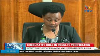 Supreme court: Chebukati cannot alter form 34B results