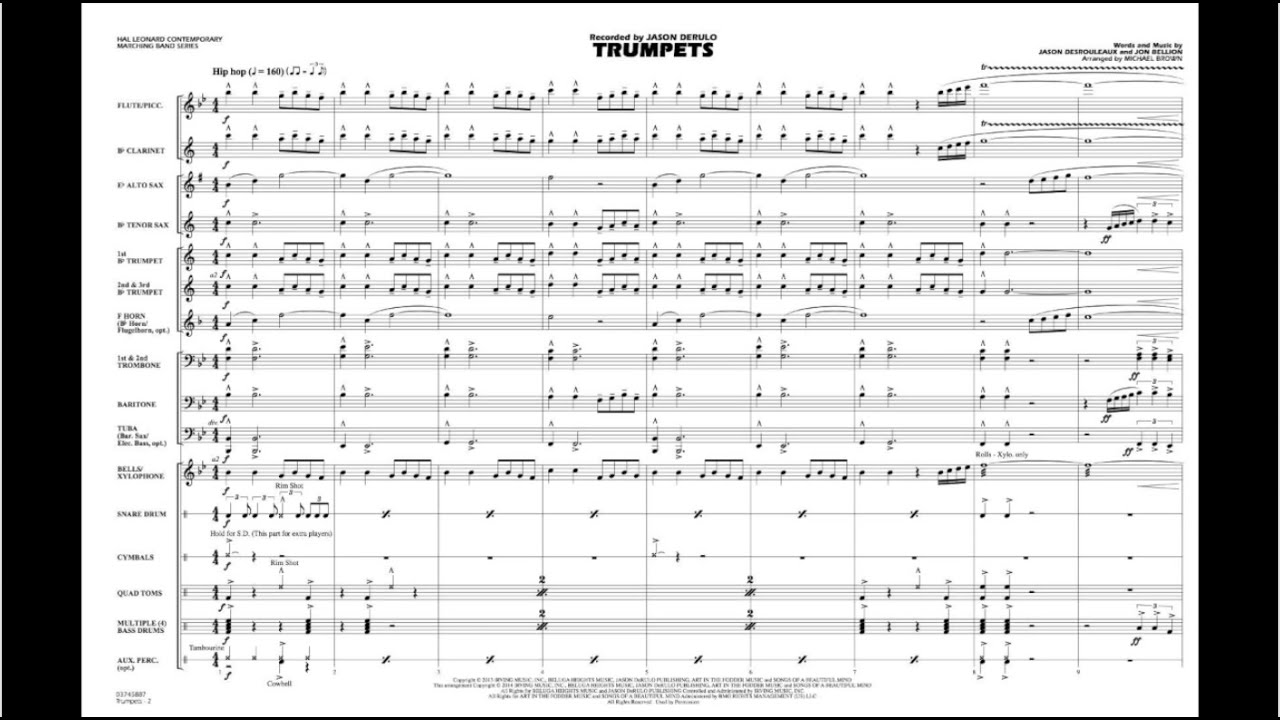 Trumpets arranged by Michael Brown by Hal Leonard Marching Band