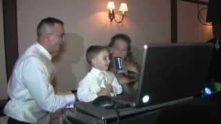4 year old singing Journey at wedding