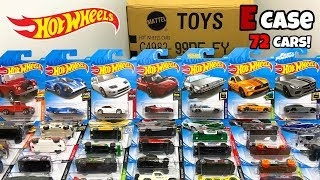 Unboxing Hot Wheels 2019 E Case 72 Car Assortment!