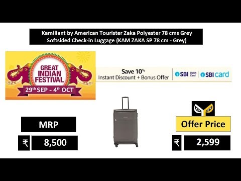 Kamiliant by American Tourister Zaka Polyester 78 cms Grey Softsided