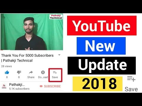 Save Video   YouTube New Update   Video Save Option On YouTube   YouTube New Features   In Hindi